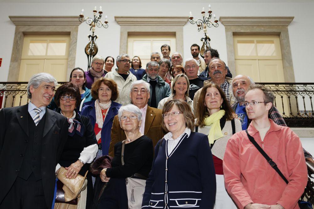groupe et amis à mairie d'Estarreja